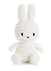 Nijntje/Miffy knuffel corduroy - wit
