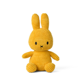 Nijntje/Miffy knuffel corduroy - okergeel