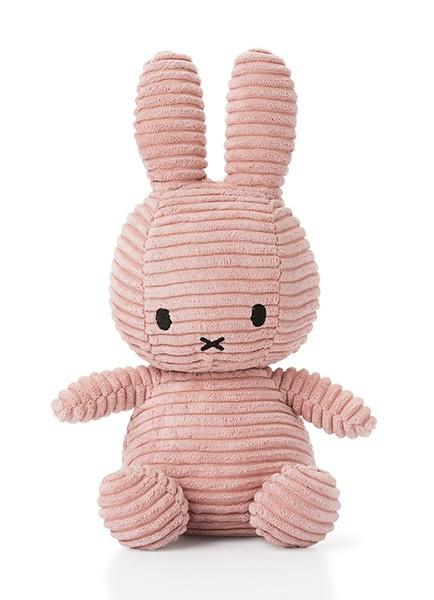 Nijntje/Miffy knuffel corduroy - roze