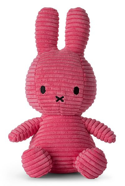 Nijntje/Miffy knuffel corduroy - Bubblegum pink