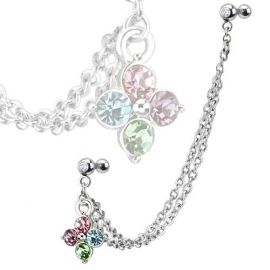 Tragus / Helix ketting Color
