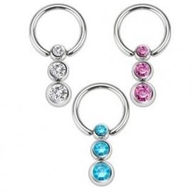 3 kristallen ring