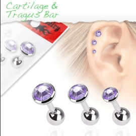 Tragus color Paars