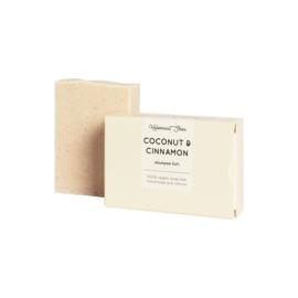 Kokos & Kaneel haarzeep (droog/beschadigd haar) 100 gram - HelemaalShea