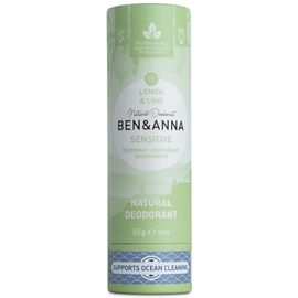 Deodorant Stick SENSITIVE Lemon & Lime 60 gram   - Ben & Anna