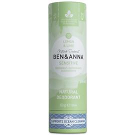 Deodorant Stick  - SENSITIVE - Lemon & Lime - 60 gram  - Ben & Anna
