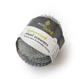 Schuurspons van staal - set van 3 - Ecoliving