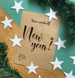 """Bloeikaart van BLOOM your message """"Have a wonderfull New Year!"""""""
