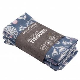 Wasbare zakdoekjes katoen 5 stuks - Garden - ImseVimse