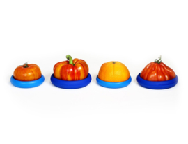 Food Huggers Big  - set van 4 - blauw - zero plastic