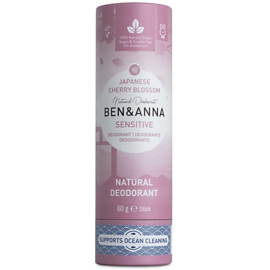 Deodorant Stick SENSITIVE Cherry Blossom 60 gram   - Ben & Anna