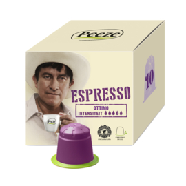 Koffiecapsules Ottimo Espresso (composteerbare cups) - Peeze