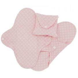 Wasbaar maandverband  regular pink halo -extra dun - 3 stuks - ImseVimse
