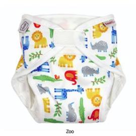 Wasbare luier - ONE SIZE - Zoo - met inlegger 4-16 kg - ImseVimse