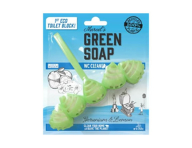 Toiletblok  Geranium & citroen - Green Soap