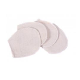 Wasbare  mini washandjes - set van 5 - wit - Anaé
