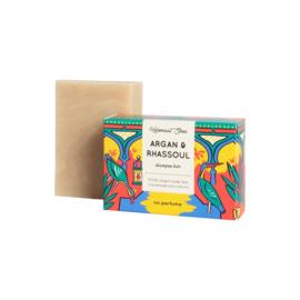 Argan-Rhassoul haarzeep (droog/beschadigd haar) 100 gram - HelemaalShea