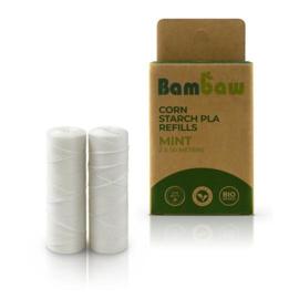 Natuurlijke Floss REFILL -  Mint 2x 50m - Bambaw