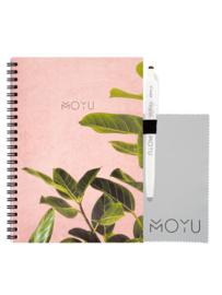 Ringband A5 notitieboekje - Pink Planter - uitwisbaar papier - MOYU