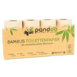 Toiletpapier van bamboe (8 rollen) 3 laags - Pandoo