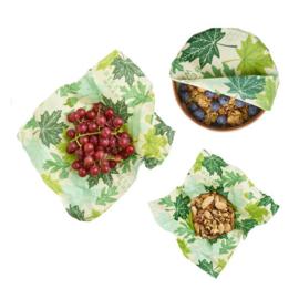 Foodwraps - set van 3 verschillende maten - Forest Floor - Bee's Wrap