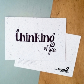 "Bloeikaart van BLOOM your message ""Thinking of you"""