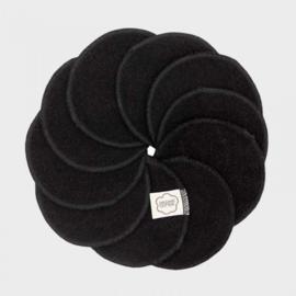 Wasbare pads set van 10 - zwart - ImseVimse