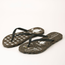 Teenslipper Turtle Black - Asportuguesas
