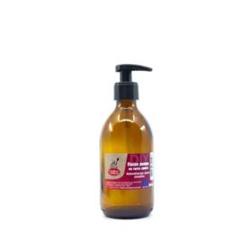 Pomp fles - lotion/zeep - amber - glas 200 / 300 ml