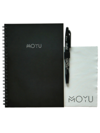 Ringband A5 notitieboekje - Business Black - uitwisbaar papier - MOYU