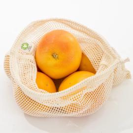 Groente en fruit netje van bio katoen Maat M - Boweevil