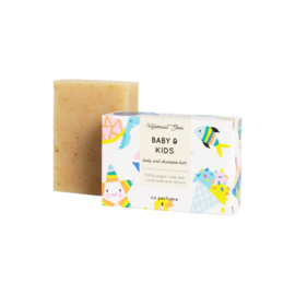 Baby & Kids body and shampoo bar 110 gram - HelemaalShea
