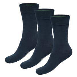 Sokken Beau 35-40 (3-pack) - Donkerblauw - Bamboo Basics