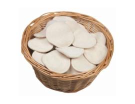 Wasbare  pads mini - set van 10 - wit - Anaé