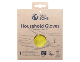 Huishoudhandschoenen natuurlatex maat L - Fair zone