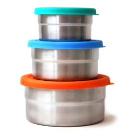 ECO Seal Cup Trio - Blue Bento