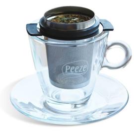 Theezeefje van Peeze voor losse thee RVS
