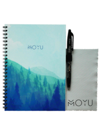 Ringband A5 notitieboekje - Misty Mountain - uitwisbaar papier - MOYU