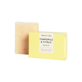 Kamille-citrus haarzeep (normaal/vet haar) 100 gram - HelemaalShea