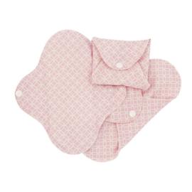 Wasbare inlegkruisjes pink halo - extra dun - 3 stuks  - ImseVimse