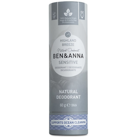 Deodorant Stick - SENSITIVE-  Highland Breeze - 60 gram  - Ben & Anna