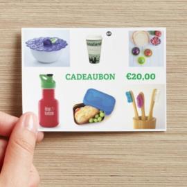 Cadeaubon  van 10, 20, 40 of 50 euro