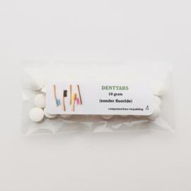 Tandenpoets tabletten TESTER - zonder fluoride - 10 gram - Denttabs