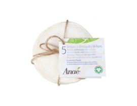 Wasbare  pads set van 5 - wit - Anaé
