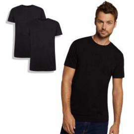 T-Shirt Ruben • ronde hals (2-pack) - Zwart - Bamboo Basics