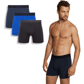 Boxershorts Rico (3-pack) - Navy, Blue & Black - Bamboo Basics