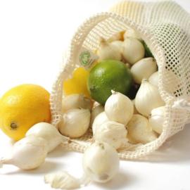 MIX voordeelset Groente en fruit netje van bio katoen Maat S, M & L (6 in totaal) - Boweevil
