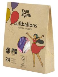 Ballonnen van natuur rubber Kleurenmix - Fair Zone