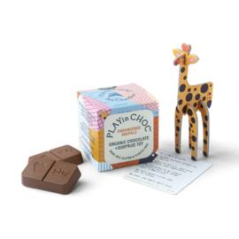 Chocolade kindersurprise BEDREIGDE DIEREN - vegan & zero plastic - PlayinChoc
