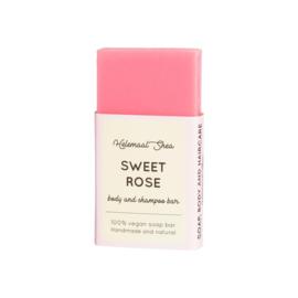 Body & shampoo bar - mini - Zoete Rozen - HelemaalShea